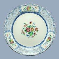 Antique Royal Cauldon China Floral Transferware Chop Plate
