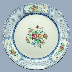 Antique Royal Cauldon China Floral Transferware Chop Plate