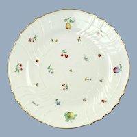"Large Vintage Richard Ginori 13"" Chop Plate Round Platter Val d'Orcia Pattern Vecchio Shape Gilt Edge"