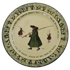 Antique Charles Noke Royal Doulton Isaac Walton Ware Plate Gallant Fishers
