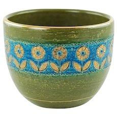 Vintage Aldo Londi for Bitossi Thai Silk Floral Motif Cachepot