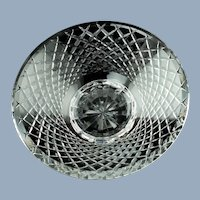 Vintage Waterford Irish Crystal Centerpiece Console Bowl