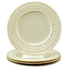 Vintage Belleek Limpet Yellow Salad Dessert Plates Set of 4