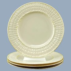 Vintage Belleek Limpet Yellow Salad Dessert Plates Fourth Mark First Green Mark Set of 4