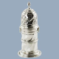 Antique English Sterling Silver Muffineer Sugar Caster George Nathan and Ridley Hayes Chester