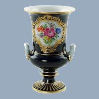 Antique Gilded Meissen Porcelain Campagna Form Cobalt Blue Urn Vase