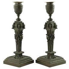 Vintage Bronze Candlesticks