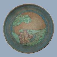 "Vintage Sallie Coyne for Rookwood Pottery Hand Painted 10.5"" Matte Glaze Shallow Bowl"