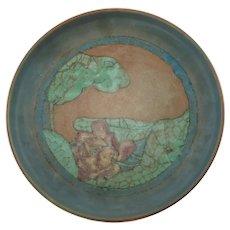 Vintage Sallie Coyne for Rookwood Pottery Hand Painted Matte Glaze Shallow Bowl