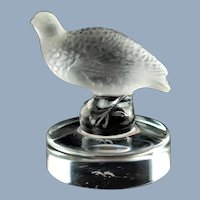 Vintage Lalique Crystal Partridge Perdrix Seal Paperweight