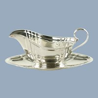 Vintage Gorham Sterling Silver Chippendale Gravy Boat and Undertray