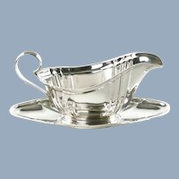 Vintage Gorham Sterling Silver Chippendale Gravy Boat and Undertray No Monogram