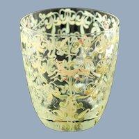 Vintage Vittorio Zecchin Hand Blown Enameled Venetian Renaissance Revival Glass Cup