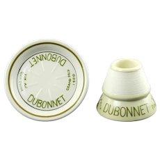 Vintage French Grand Prix 1900 Dubonnet Ceramic Match Strike and Coaster Ashtray Set