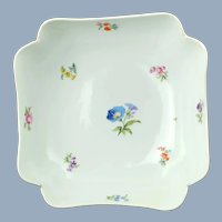 Large Antique 19th Century Meissen Serving Bowl with Hand Painted Floral Motif