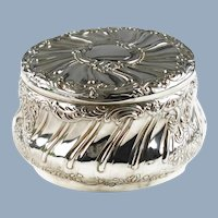 Large Antique English Sterling Silver Lidded Box Goldsmiths and Silversmiths