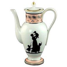 Vintage Vista Alegre Portugal for Mottahedeh Silhouette Porcelain Coffee Pot