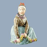 Vintage Royal Copenhagen Porcelain Danish National Costume Series Fano Figurine Carl Martin-Hansen
