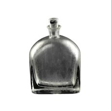 """Vintage Vicke Lindstrand for Orrefors ISAT """"Iced"""" Series Art Deco Decanter Signed OF LU 154/30 Circa 1930s"""