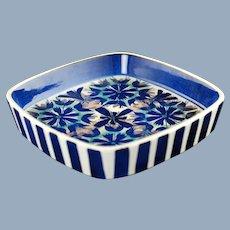 Vintage Royal Copenhagen Aluminia Faience Tenera Series Hand Painted Square Dish Marianne Johnson