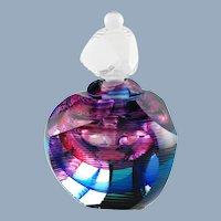 Vintage Kit Karbler and Michael David Signed Numbered Prismatic Contemporary Art Glass Perfume Bottle