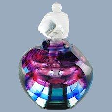 Vintage Kit Karbler and Michael David Prismatic Contemporary Art Glass Perfume Bottle
