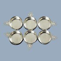 Vintage Lunt Sterling Silver Miniature Porringers Salt Cellars Nut Dishes Set of 6
