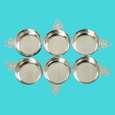 Vintage Lunt Sterling Silver Miniature Porringers Salt Cellars Nut Dishes Set of 6 No Monogram