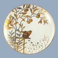 Antique Mintons 19th Century Ornithological Aesthetic Movement Cabinet Plate