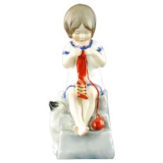Vintage Royal Worcester Saturday's Child Works Hard for a Living Bone China Figurine