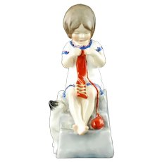 1953 Royal Worcester Saturday's Child Works Hard for a Living Bone China Figurine
