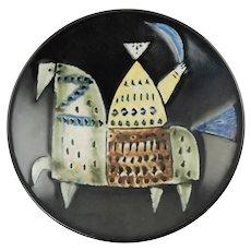 Vintage Lisa Larson for Gustavsberg Varieté Series Art Pottery Shallow Stoneware Bowl