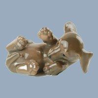 Vintage Royal Copenhagen Dachshund Dog Figurine #1408 Designed by Olaf Mathiesen