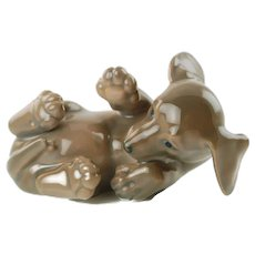 Vintage Royal Copenhagen Dachshund Dog Figurine #1408 Designed by Olaf Mathiesen