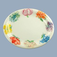 "Large Vintage Tiffany and Co Tiffany Blossom Oval 14.5"" Platter Tray"