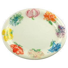"""Large Vintage Tiffany and Co Tiffany Blossom Oval 14.5"""" Platter Tray Made in England"""