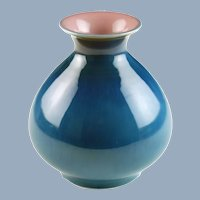 Vintage Rookwood Pottery Ruben Earl Menzel Blue and Pink Vase