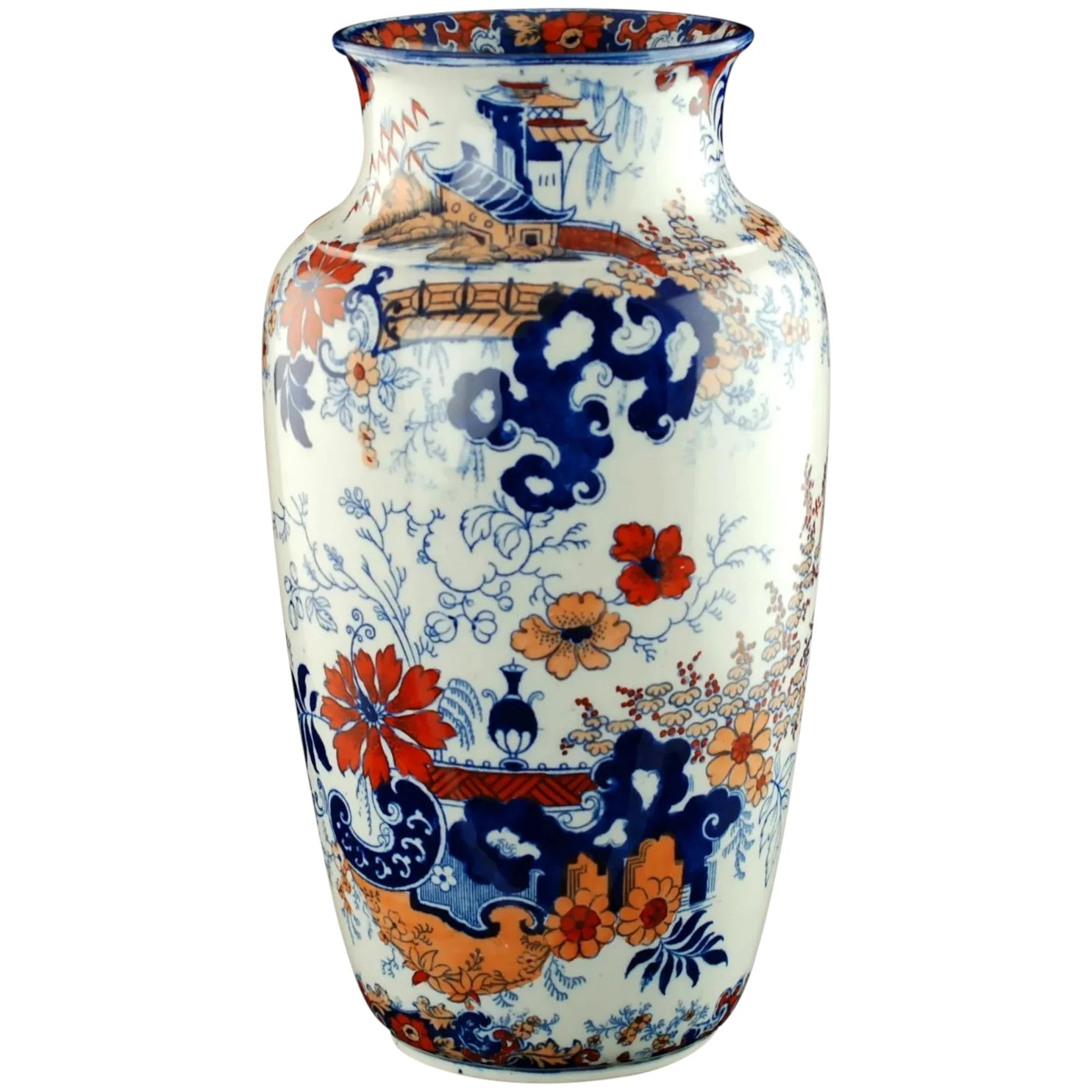 William Ridgway Polychrome Imari Vase