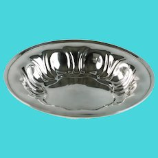 """Antique Meriden Sterling Silver 9"""" Bowl Art Nouveau"""