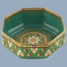 Vintage John Wadsworth for Mintons Byzantine Octagonal Console Bowl Pattern E4568