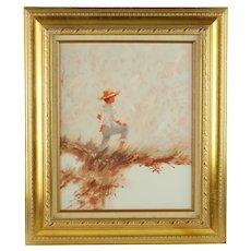 Vintage Anthony Michael Autorino Impressionist Oil Painting Beach Scene