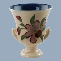 Vintage ET Hurley for Rookwood Pottery Hand Painted Double Handled Vase Campagna Urn