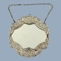 Antique Gorham Neoclassical Sterling Silver Framed Wall Mirror