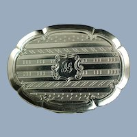 Antique Early Victorian Sterling Silver Vinaigrette with Ornate Foliate Grill by William & Edward Turnpenny Circa 1847