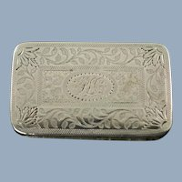 Antique George III Sterling Silver Vinaigrette with Prick Dot and Wriggle Work by Joseph Willmore Circa 1811