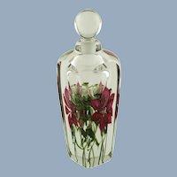 Vintage Vandermark Studios Limited Edition Studio Art Glass Paperweight Perfume Bottle Doug Merritt & Steve Smarr