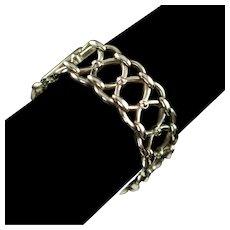 Vintage Slane & Slane Sterling Silver Heavy Link Bracelet 61.5 Grams