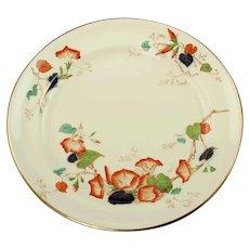 "Vintage Royal Cauldon Imari 14"" Chop Plate Round Platter Rust Cobalt Floral Morning Glory Pattern"