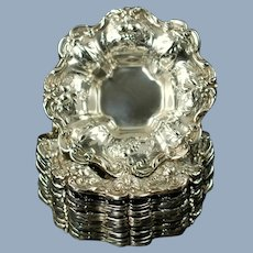Vintage Reed and Barton Frances I Sterling Silver Nut Candy Dishes Set of 12