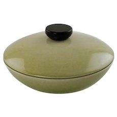Vintage Rookwood Pottery Lidded Bowl with Wood Handle Circa 1953 Midcentury Decor